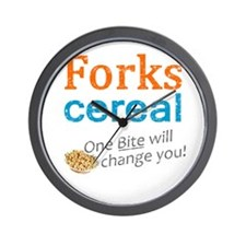 Twilight Forks Cereal Wall Clock