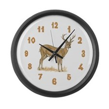 Deer Wood Large Wall Clock
