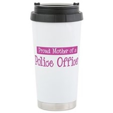 Proud Mother of Police Office Ceramic Travel Mug