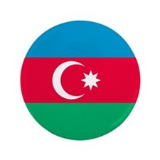 "Flag of Azerbaijan 3.5"" Button (100 pack)"