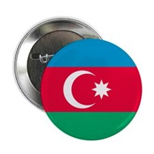 "Flag of Azerbaijan 2.25"" Button"