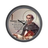 Theology Thomas Aquinas Wall Clock
