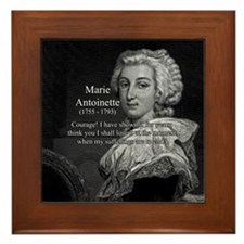 Courage Marie Antoinette Framed Tile
