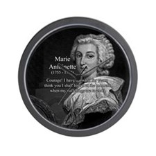 Courage Marie Antoinette Wall Clock