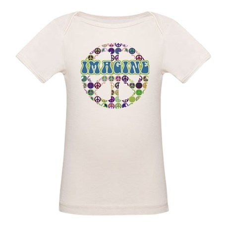 Retro Peace Sign Imagine Organic Baby T-Shirt