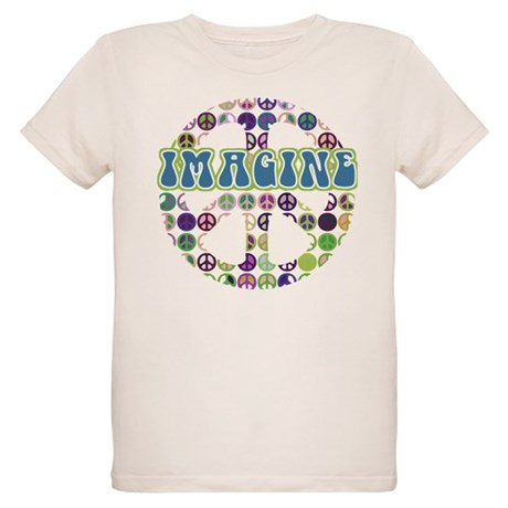 Retro Peace Sign Imagine Organic Kids T-Shirt