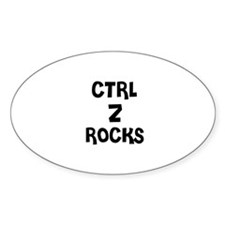 CTRL Z ROCKS Oval Decal