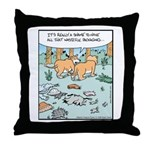 Lion Wasteful Packaging Throw Pillow