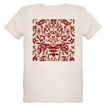 Red Damask Retro Florentine Organic Kids T-Shirt