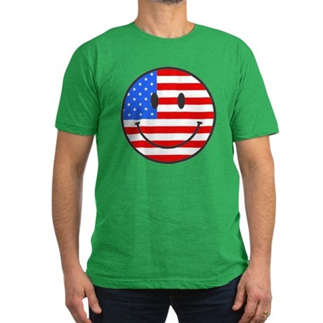 4th Of July Happy Smile Men's Fitted T-Shirt (dark