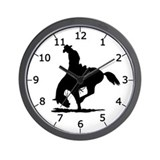 Saddle Bronc Riding Wall Clock