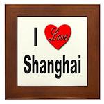 I Love Shanghai China Framed Tile