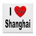 I Love Shanghai China Tile Coaster