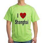 I Love Shanghai China Green T-Shirt