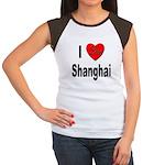 I Love Shanhai China (Front) Women's Cap Sleeve T-