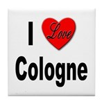 I Love Cologne Germany Tile Coaster