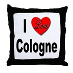 I Love Cologne Germany Throw Pillow