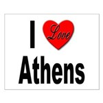 I Love Athens Greece Small Poster