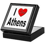 I Love Athens Greece Keepsake Box