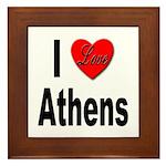I Love Athens Greece Framed Tile