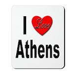 I Love Athens Greece Mousepad