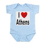 I Love Athens Greece Infant Creeper