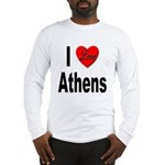 I Love Athens Greece (Front) Long Sleeve T-Shirt