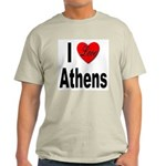 I Love Athens Greece (Front) Ash Grey T-Shirt