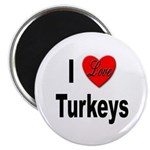 I Love Turkeys Magnet