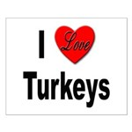 I Love Turkeys Small Poster