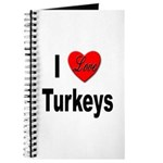 I Love Turkeys Journal