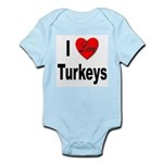 I Love Turkeys Infant Creeper
