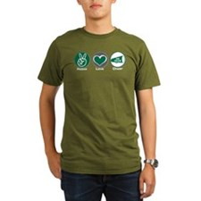 Peace Love Cheer Green T-Shirt