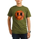 Basketball Smiley Organic Men's T-Shirt (dark)