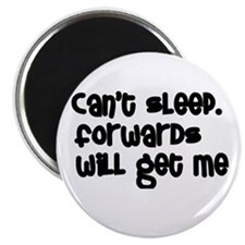 Can't Sleep Forwards Will Get Me Rugby Magnet