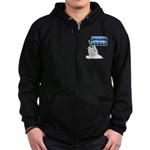 Spring Break Beer Keg Design Zip Hoodie (dark)