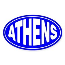 Athens Decal Oval Decal