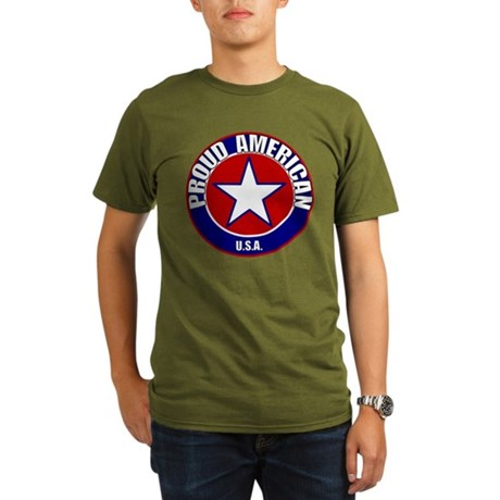 Proud American Organic Men's T-Shirt (dark)