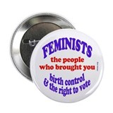 "Fem vote 2.25"" Button"
