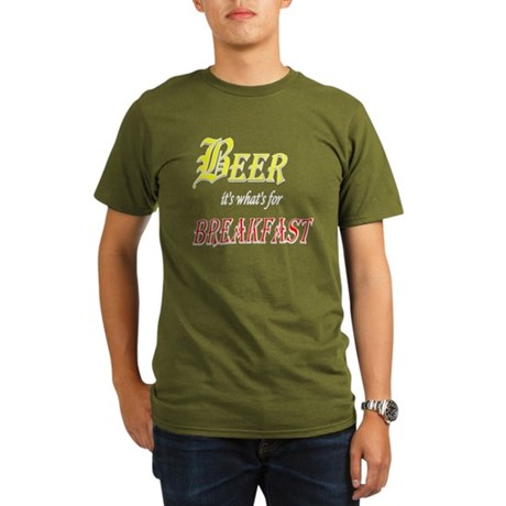 Breakfast Beer Organic Men's T-Shirt (dark)