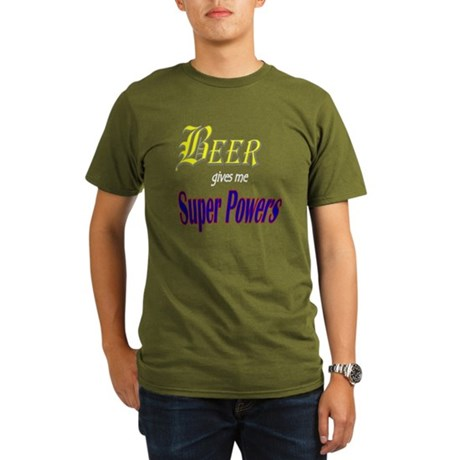 Super Beer Organic Men's T-Shirt (dark)