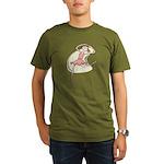 Retro Ballerina Girl Organic Men's T-Shirt (dark)