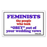 Fem vows Rectangle Decal