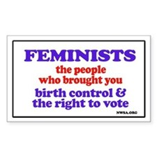 Fem vote Rectangle Decal