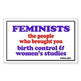 Fem wmstudies Rectangle Sticker 10 pk)