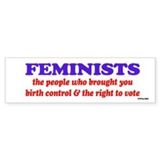 Fem vote Bumper Bumper Sticker