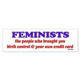 Fem credit Bumper Car Sticker