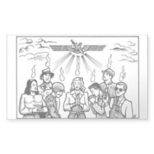 SubGenius Worship Rectangle Decal