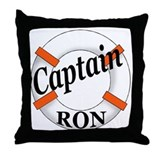 Captain Ron Throw Pillow