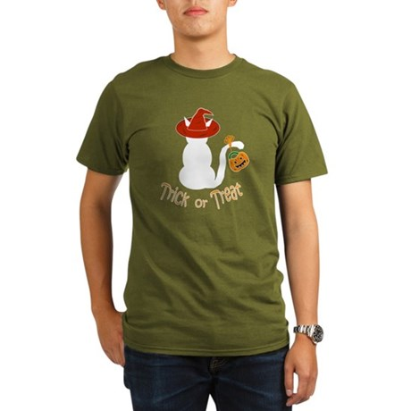 Halloween Cat in the Hat Organic Men's T-Shirt (da